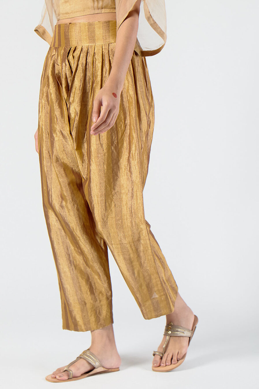Anavila Stripes metallic salwar