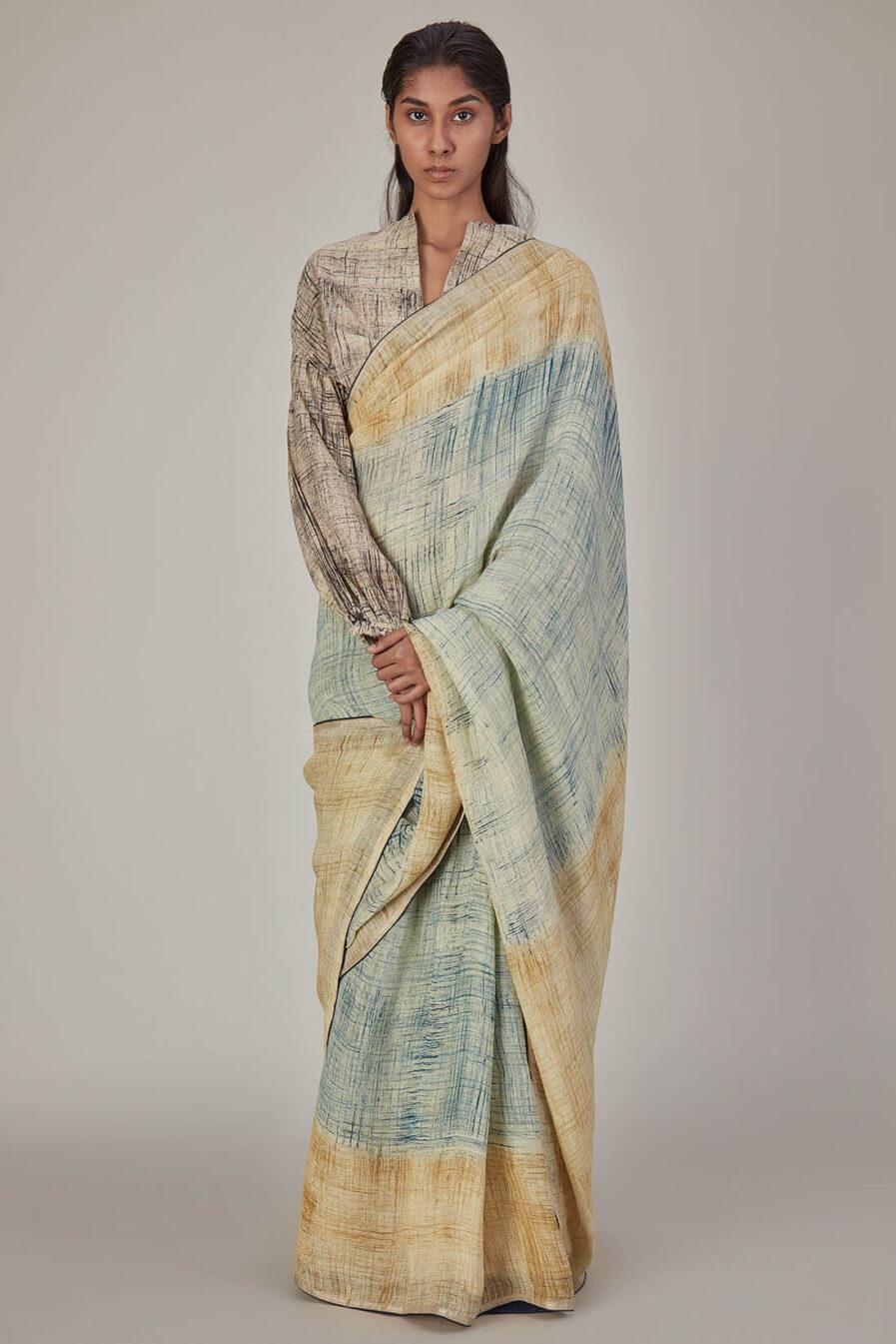 Anavila Brush Stroke Khadi Silk Blouse
