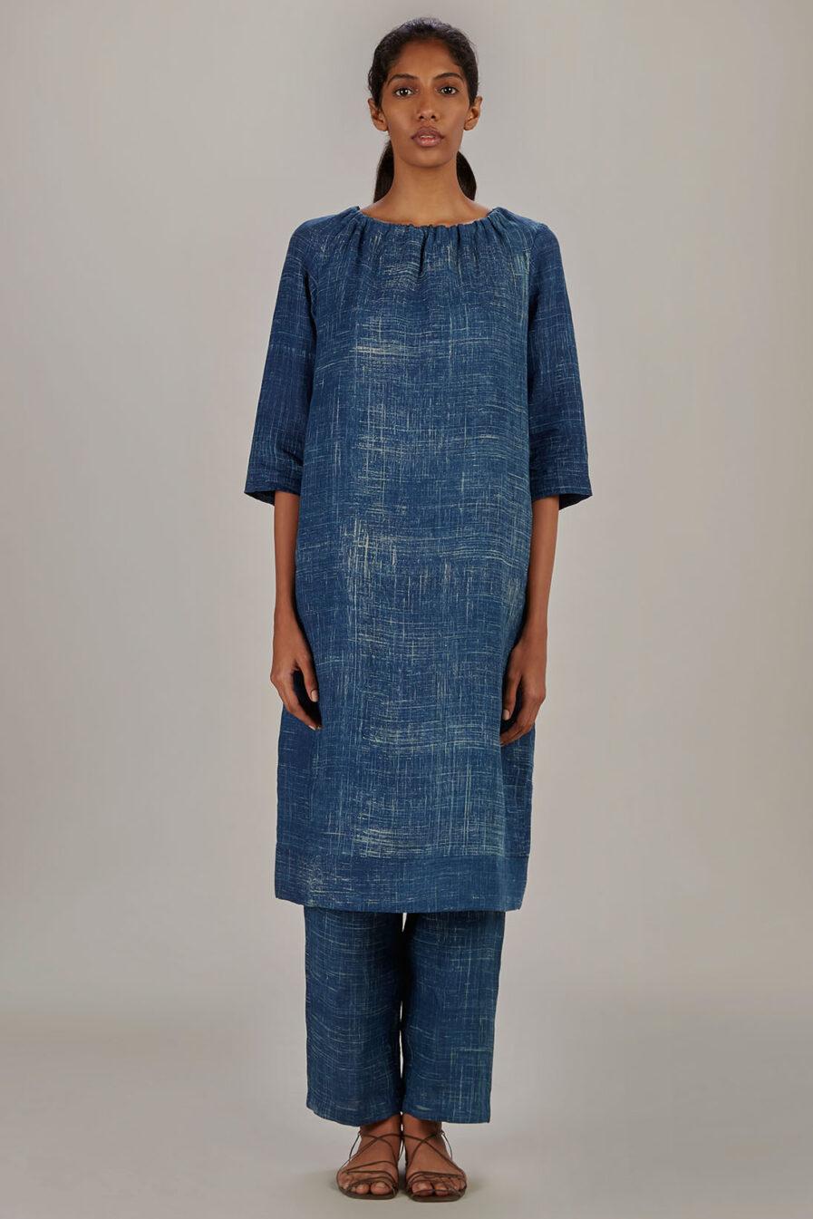 Anavil Indigo Elasticated dress
