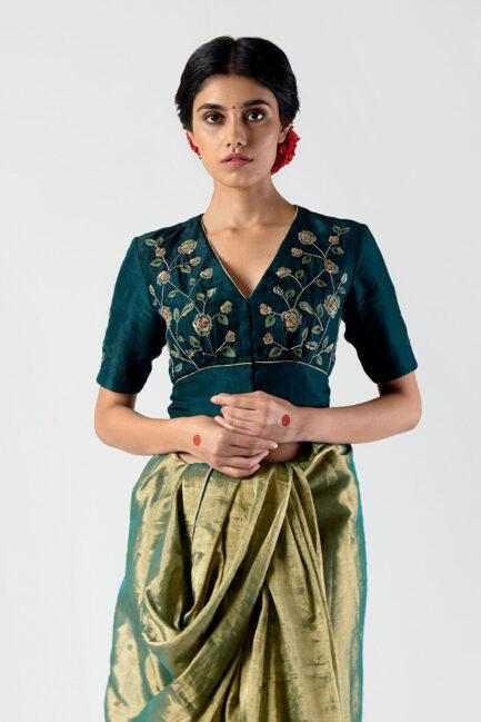 Anavila Festive embroidered blouse