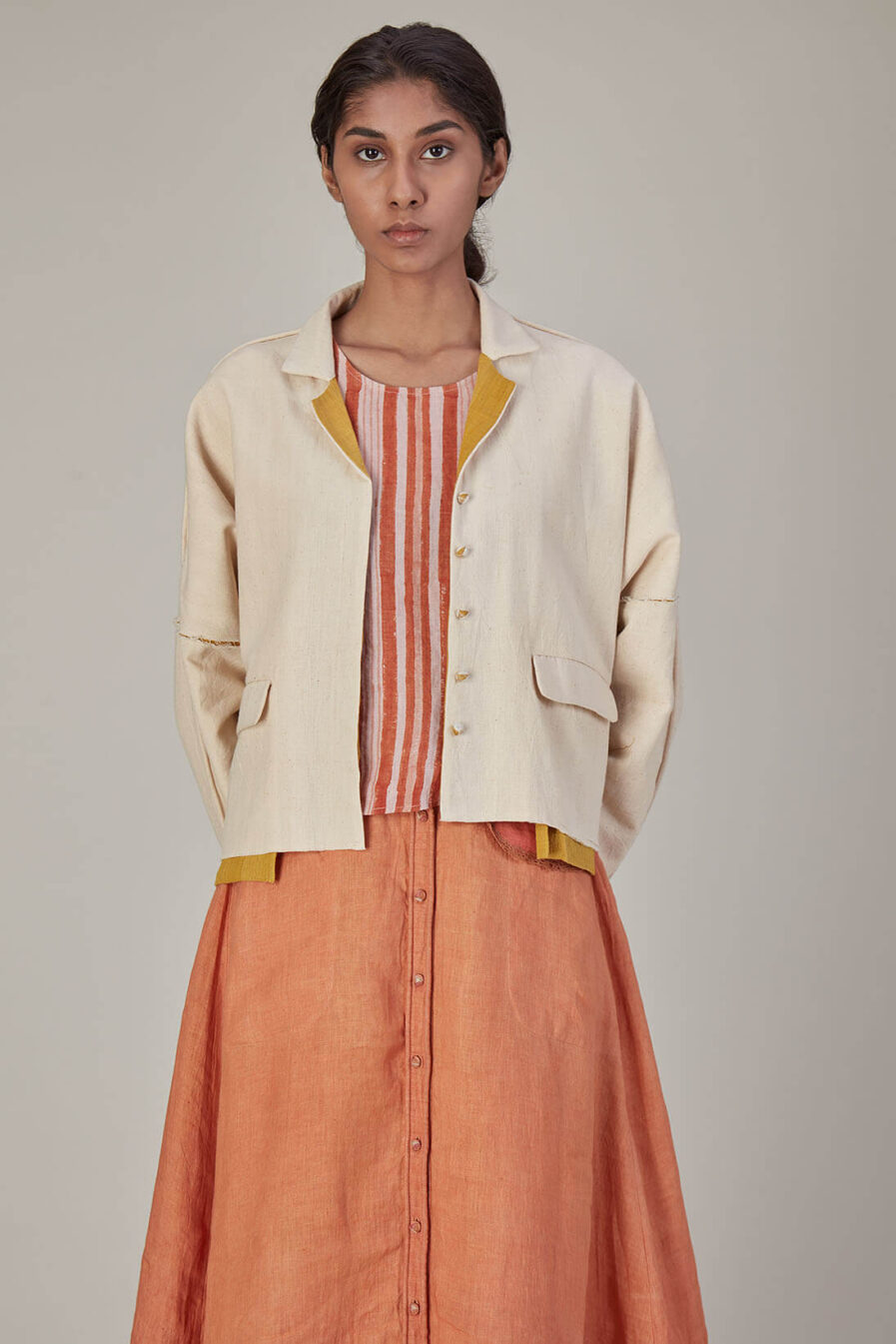 Anavila Kala Cotton Small Pea Coat