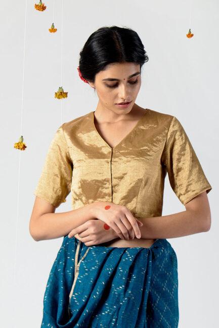 Anavil V-neck blouse