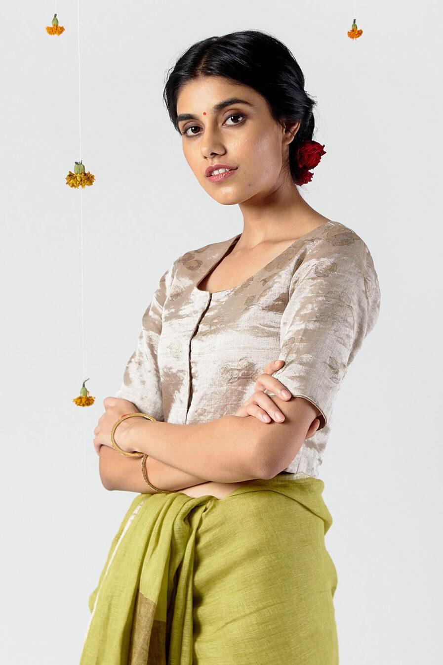 Anavil Floral metallic blouse
