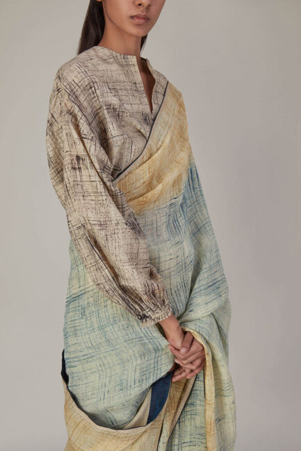 Anavila Brush Stroke Khadi Silk Blouse