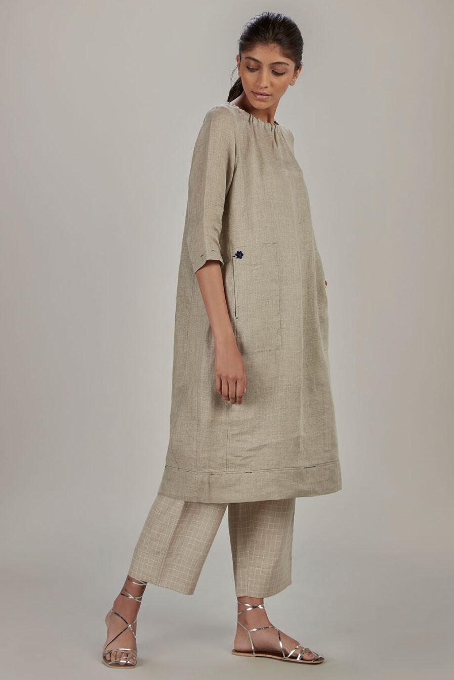 Anavil Natural Elasticated dress