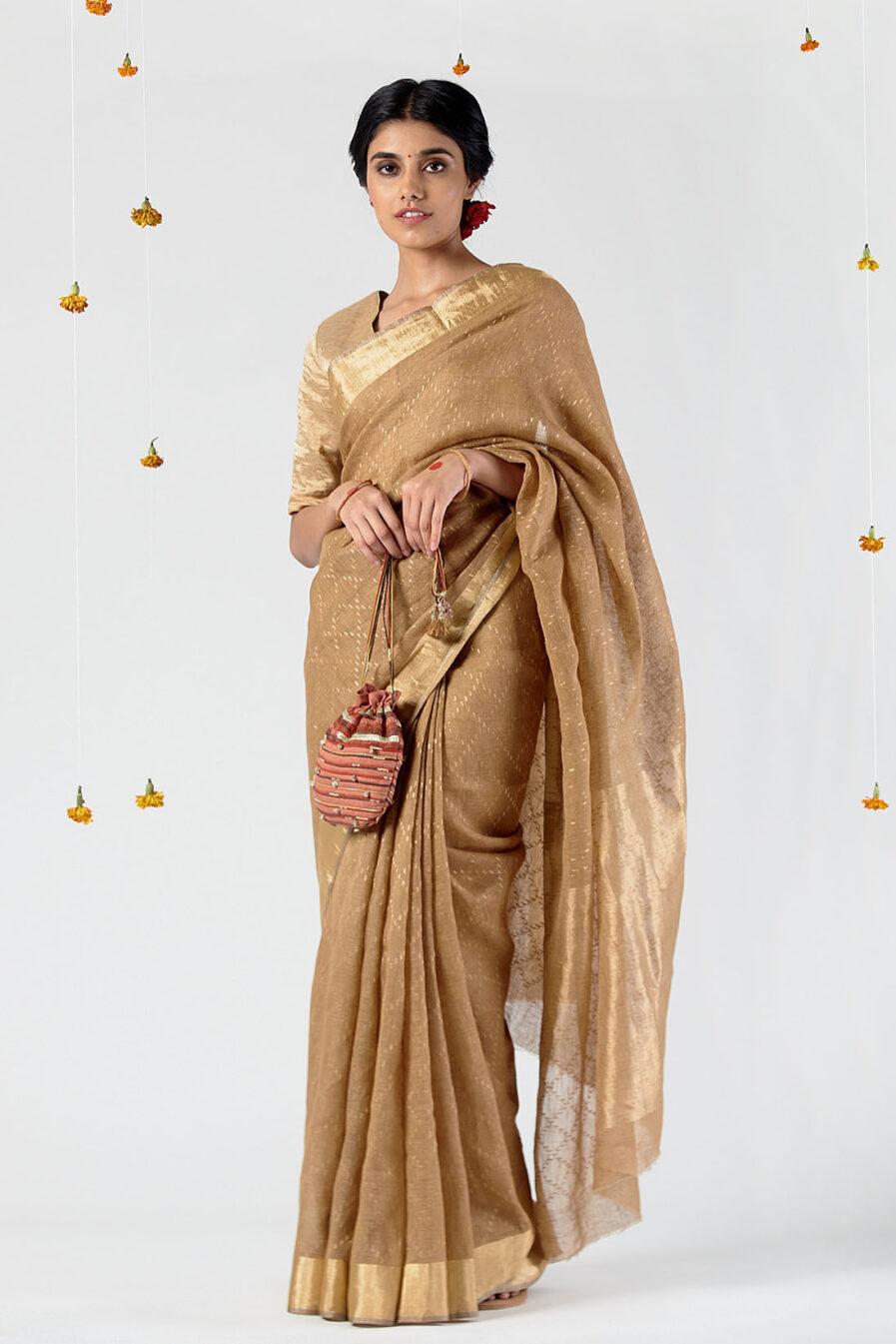 Anavila All over chain jamdani sari
