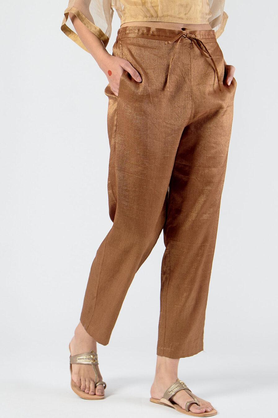Anavila Metallic trouser