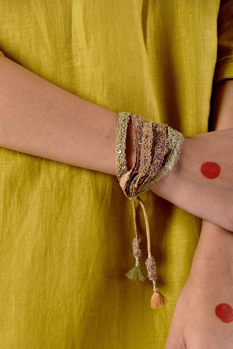 Anavila Textured layered wristband