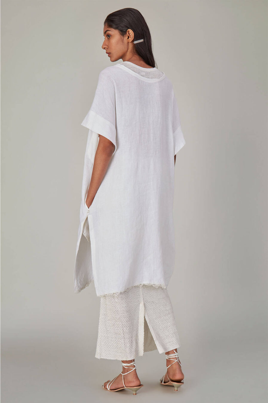 Anavila Fish Net Jersey Skirt