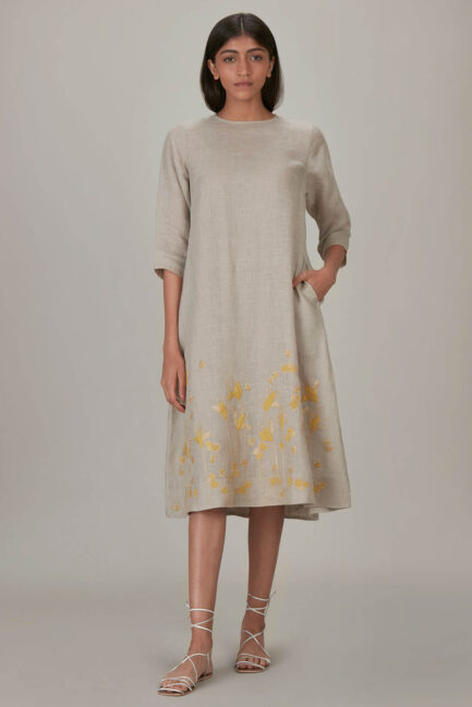 Anavila Yellow Khatwa Detailed Estella Dress