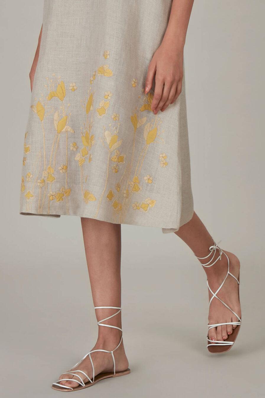 Anavila Yellow Khatwa Detailed Estella Dress