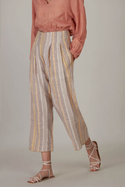 Anavila Fawn Yellow Stripes Trouser