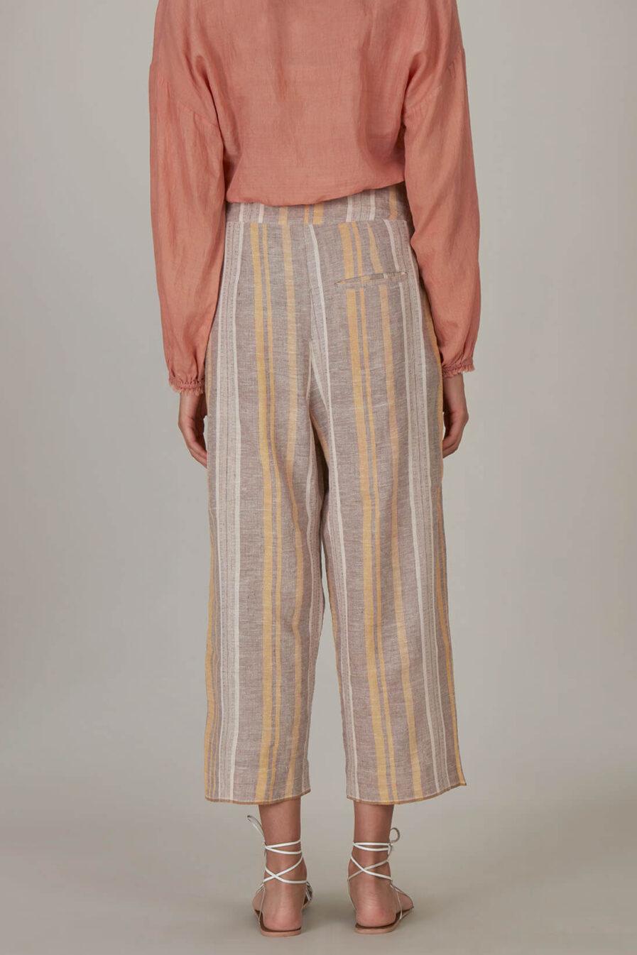 Anavila Fawn Yellow Stripes Trouser