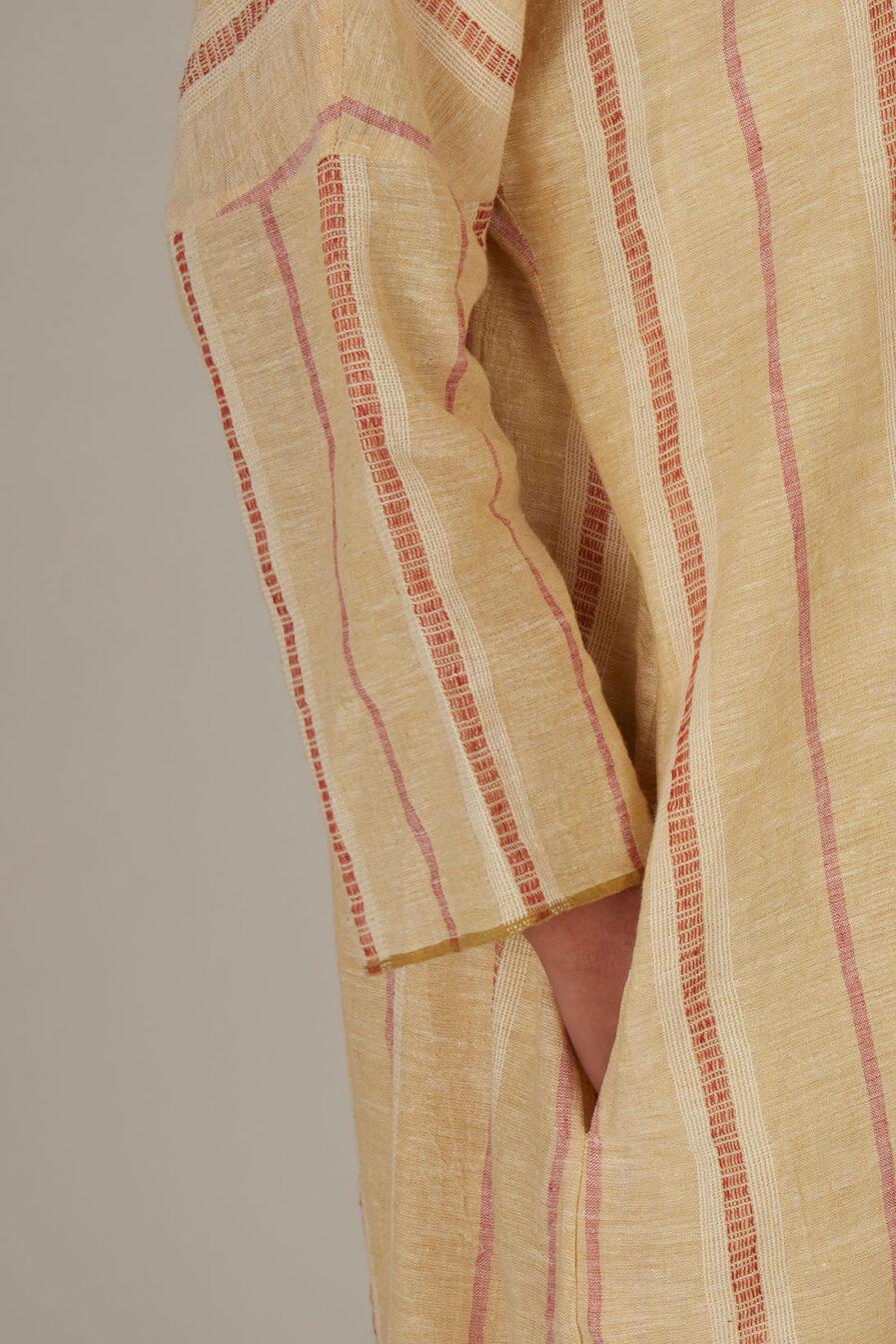 Anavila Yellow Striped Organic Cotton Tunic