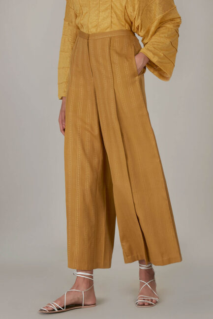Anavila Yellow Organic Trouser