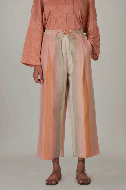 Anavila Peach Stripes Trouser