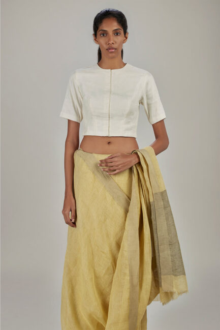 Anavil White khatwa blouse