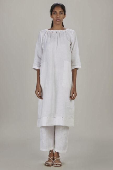 Anavila White Elasticated dress