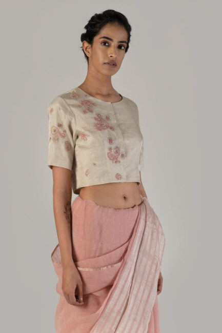 Anavil Amaranth embroidered blouse