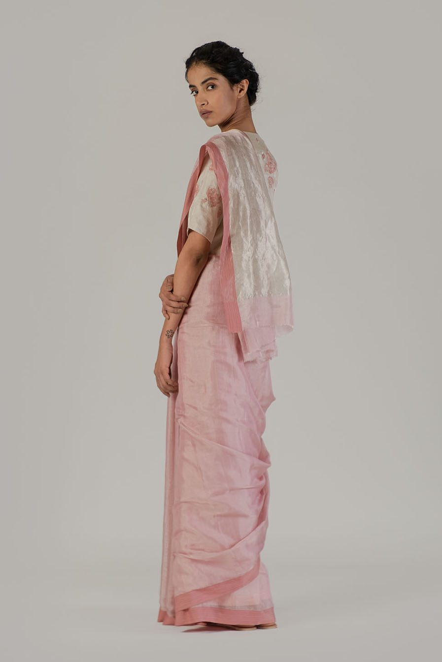 Anavil Festive metallic sari