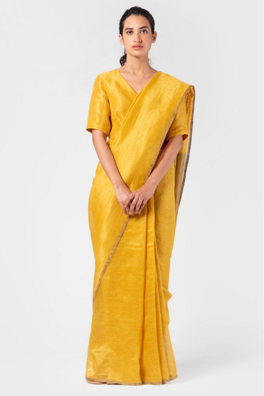 Anavila Tuscany metallic sari