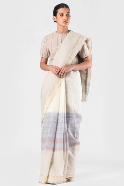 Anavila Mauve summer detail sari
