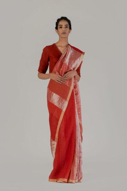 Anavil Ganga jamuna festive sari