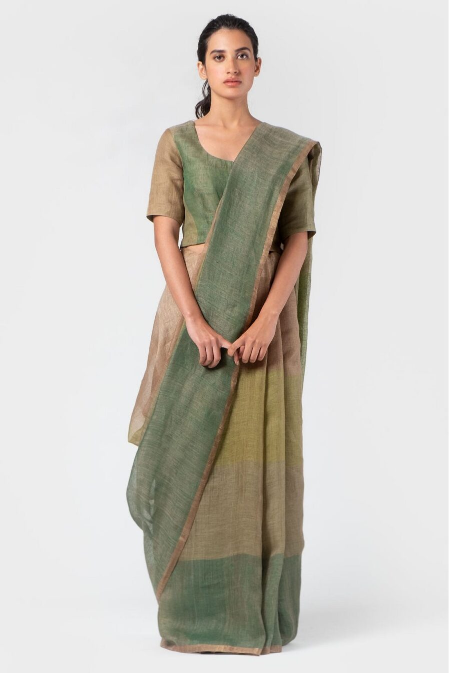 Anavila Graded basil summer sari