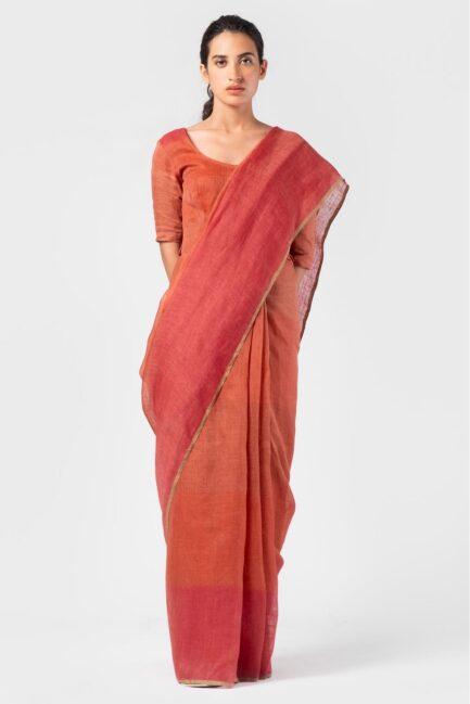 Anavila Graded coral summer sari