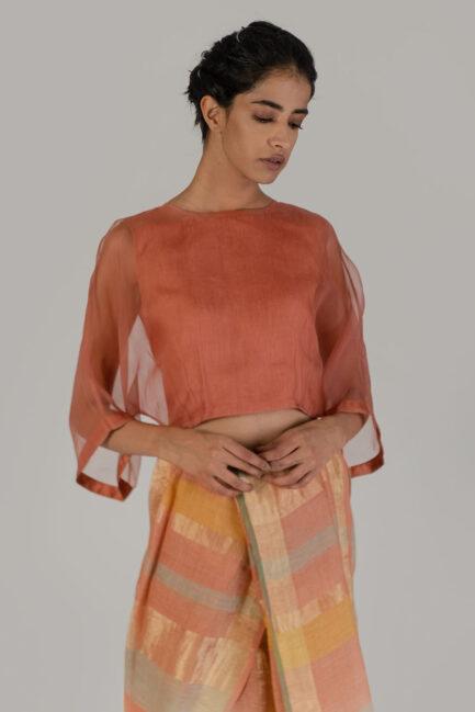 Anavil Organza kaftan blouse