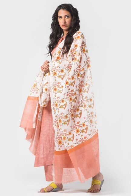 Anavila Essential summer block printed dupatta