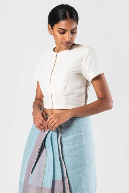 Anavila Ice blue Khatwa blouse