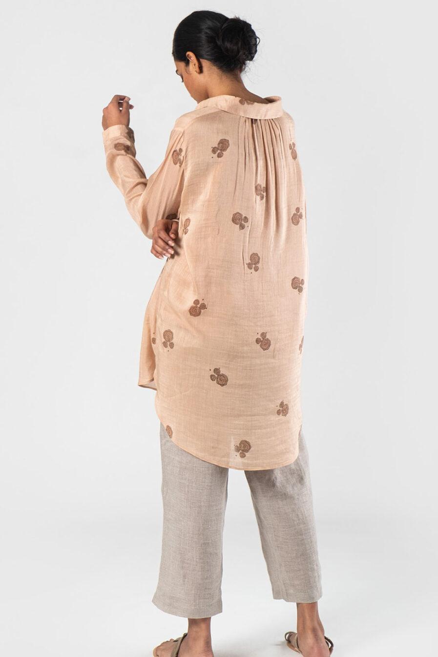 Anavila Peach Brooke shirt (Printed S-L)
