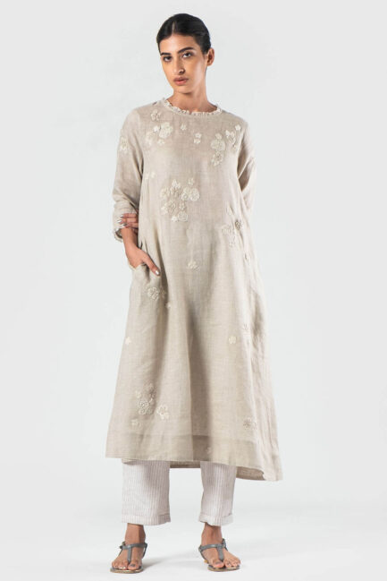 Anavila White Estella dress khatwa